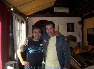 Rafael in the Studio with Antonio Banderas